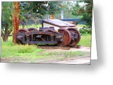 Abandoned Wheels Greeting Card