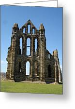 Abbey At Whitby  Greeting Card