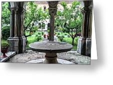 Abbey Cloister Greeting Card