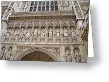 Abbey Facade Greeting Card