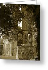 Abbey In Kelso. Greeting Card