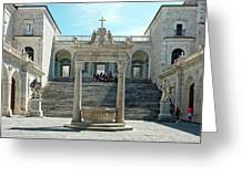 Abbey Of Montecassino Courtyard Greeting Card