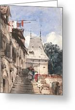 Abbey St-amand, Rouen Greeting Card