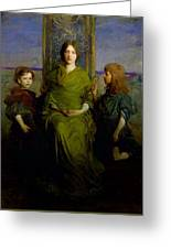 Abbott Handerson Thayer - Mother And Children Greeting Card