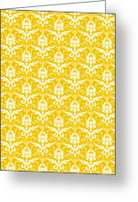 Abby Damask In White Pattern 05-p0113 Greeting Card