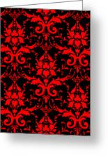 Abby Damask With A Black Background 02-p0113 Greeting Card