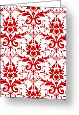 Abby Damask With A White Background 02-p0113 Greeting Card