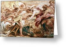 Abduction Of Hippodamia Greeting Card