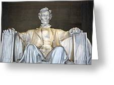Abe Down To His Knees Greeting Card