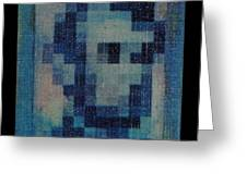 Abe In Light Blue Greeting Card