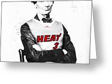 Abe Lincoln In A Dwyane Wade Jersey Greeting Card