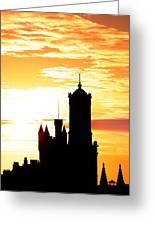 Aberdeen Silhouettes - Portrait Greeting Card