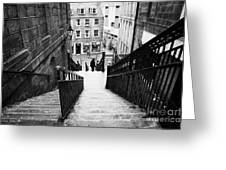 Aberdeen Union Street Back Wynd Stairs Scotland Uk Greeting Card