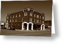 Abilene Kansas - Spruce And 3rd Sepia Greeting Card