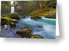 Abiqua Falls In Spring Greeting Card