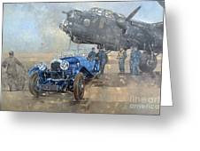 Able Mable And The Blue Lagonda  Greeting Card
