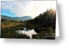 Abol Mt And Round Pond Greeting Card