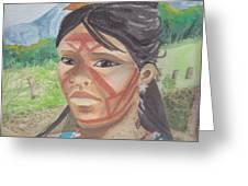 Mujer Indigena Greeting Card