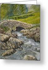 Above Ashness Bridge Greeting Card