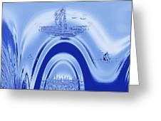 Above Atlantis. Greeting Card