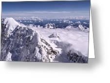 Above Denali Greeting Card by Chad Dutson