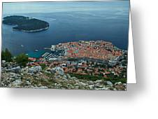 Above Dubrovnik - Croatia Greeting Card