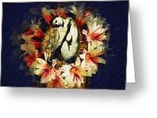 Above Flowers And Thorns II Greeting Card