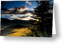 Above Gardiner Montana Greeting Card