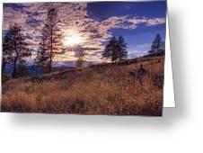 Above Lake Okanagan Greeting Card