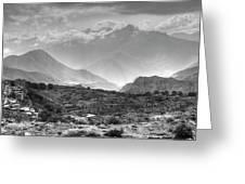 Above Muktinath, Nepal Greeting Card