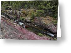Above Redrock Falls Greeting Card