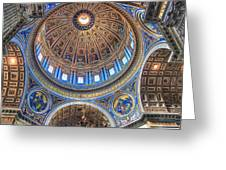 Above Saint Peters Greeting Card