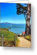 Above San Francisco Bay Greeting Card
