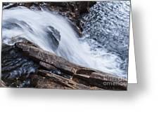 Above Small Falls Greeting Card