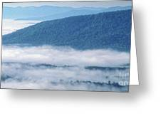 Above The Clouds Panoramic Greeting Card