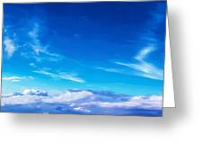 Above The Clouds Sky Is Always Blue Greeting Card