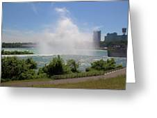 Above The Falls 3 Greeting Card