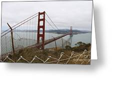 Above The Golden Gate Greeting Card