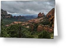 Above The Red Rocks Of Sedona  Greeting Card