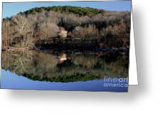 Above The Waterfall Reflection Greeting Card
