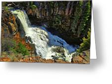 Above Undine Falls Greeting Card