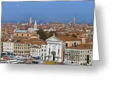 Above Venice Greeting Card