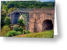 Abraham Derbys Iron Bridge Rural Landscape Greeting Card