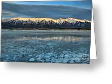 Abraham Lake Ice Bubble Sunset Greeting Card