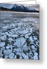 Abraham Lake Ice Bubbles Greeting Card