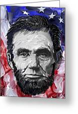 Abraham Lincoln - 16th U S President Greeting Card