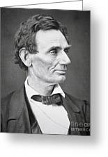 Abraham Lincoln Greeting Card by Alexander Hesler