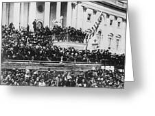 Abraham Lincoln Gives His Second Inaugural Address - March 4 1865 Greeting Card