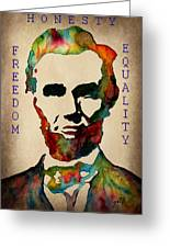 Abraham Lincoln Leader Qualities Greeting Card