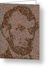 Abraham Lincoln Penny Mosaic Greeting Card